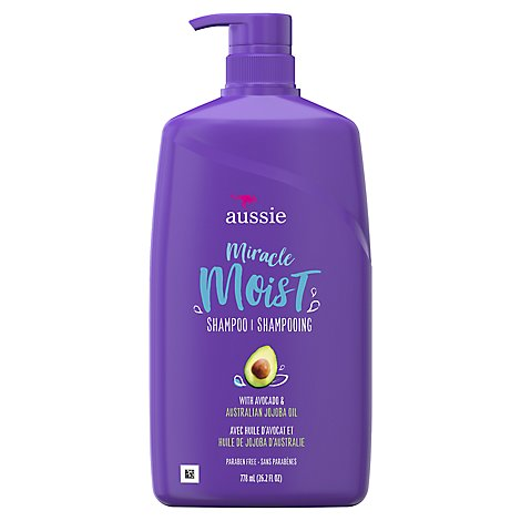 Aussie Miracle Moist Shampoo With Avocado & Australian Jojoba Oil - 26.2 Fl. Oz.