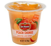 Del Monte Fruit Naturals Fruit Snack Yellow Cling Peach Chunks In Extra Light Syrup - 7 Oz