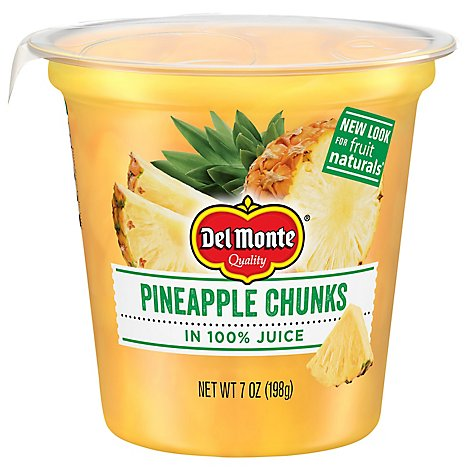 Del Monte Fruit Naturals Fruit Snack Pineapple Chunks In 100% Juice - 7 Oz