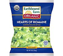 Earthbound Farm Lettuce Organic Hearts Of Romaine Pre Washed - 10 Oz