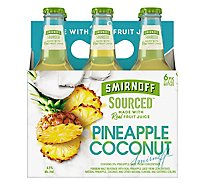 Smirnoff Malt Beverage Premium Pineapple Coconut - 6-11.2 Oz