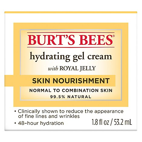 Burts Bees Gel Cream Hydrating With Royal Jelly Skin Nourishment - 1.8 Fl. Oz.