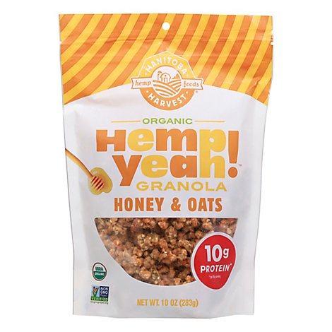 Manitoba Harvest Hemp Yeah! Granola Organic Honey & Oats - 10 Oz