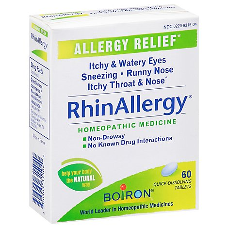 Rhinallergy Tablets - 60 Count