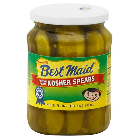 Best Maid Pickles Spears Kosher - 24 Fl. Oz.