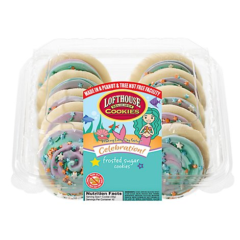 Lofthouse Mermaid Frosted Sugar Cookies - 13.5 Oz