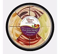 Fruit Swirl Variety Cheesecake - 16 Oz