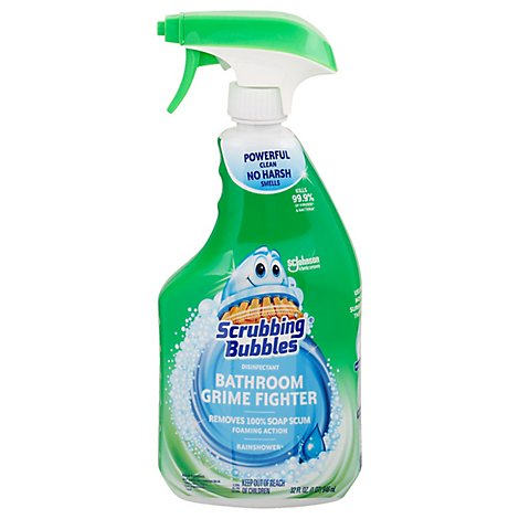 Scrubbing Bubbles Bathroom Grime Fighter Spray Rainshower 32 oz