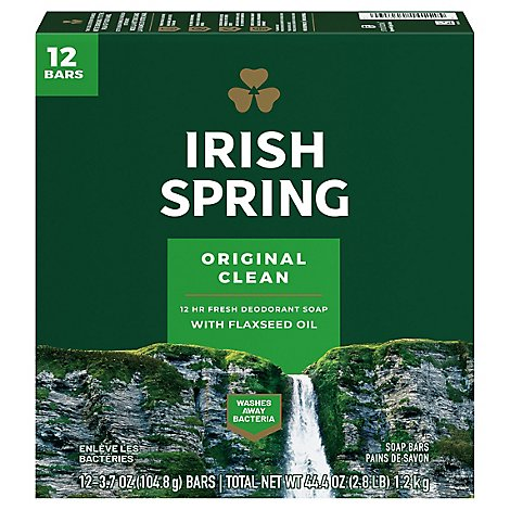 Irish Spring Original 12 Bar 3.7oz - 45 Oz