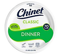 Chinet Cw 10 3/8 Inch Dinner Plate - 70 Count