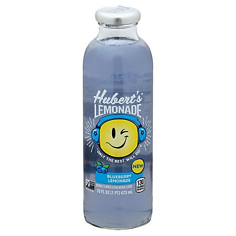 Huberts Soda Pop Lemonade Blueberry Flavored - 16 Fl. Oz.