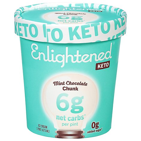 Enlightened Keto Collection Ice Cream Mint Chocolate Chunk 1 Pint - 473 Ml