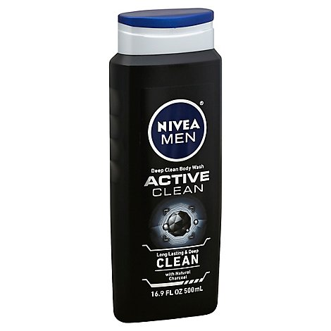 NIVEA MEN Body Wash Deep Active Clean Charcoal - 16.9 Fl. Oz.
