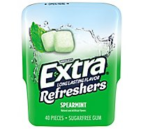 Extra Refreshers Sugar Free Chewing Gum Spearmint - 40 Count