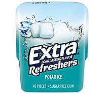 Extra Refreshers Sugar Free Chewing Gum Polar Ice - 40 Count