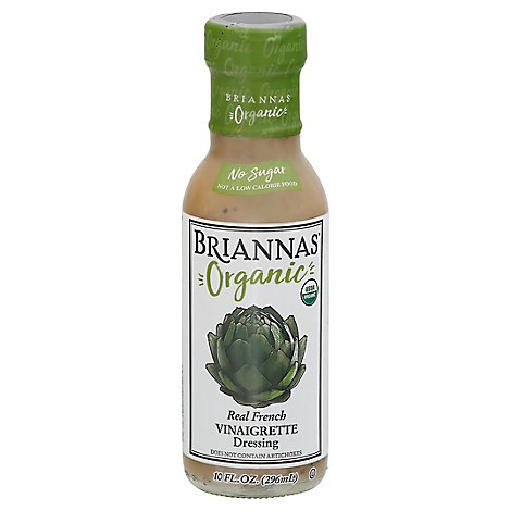 BRIANNAS Organic Dressing Vinaigrette Real French - 10 Oz