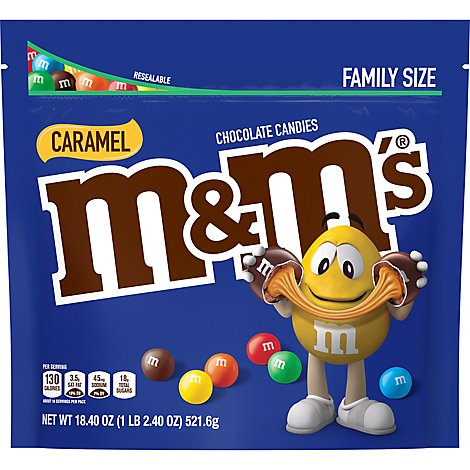 M&Ms Caramel Chocolate Candy Family Size 18.4 Oz