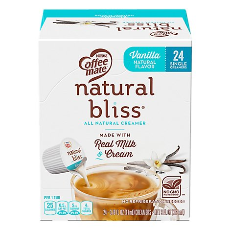 Coffee mate Natural Bliss Coffee Creamer Liquid All Natural Vanilla - 24-0.375 Oz