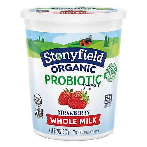 Stonyfield Whole Milk Strawberry Yogurt - 32 Oz