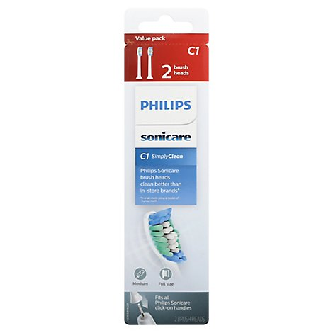 Sonicare Simplyclean Brush Heads - 2 Count