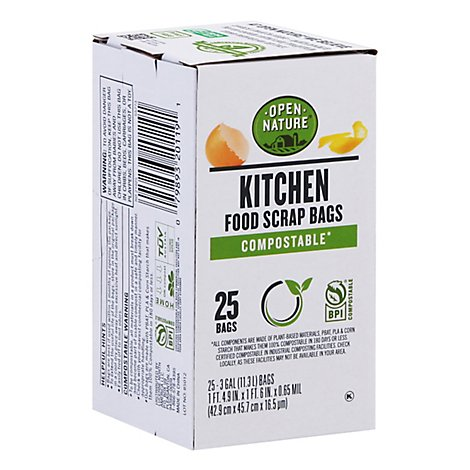 Open Nature Trash Bags Compostable Small - 25 Count