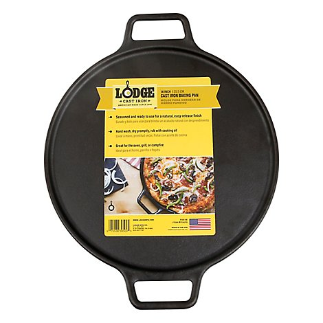 Lodge Cast Iron Baking Pan 14in - Each