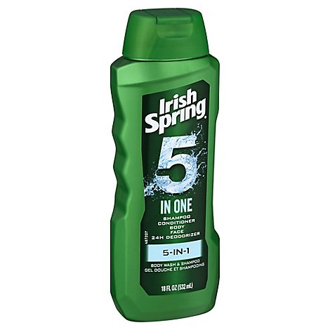 Irish Spring 5 In 1 Body Wash - 18 Fl. Oz.
