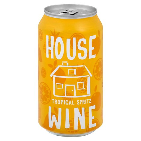 House Wine Can Tropical Mango Wine - 375 Ml