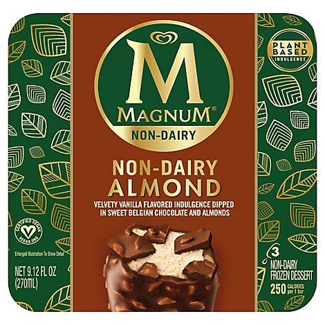 Magnum Ice Cream Bar Non Dairy Almond - 3 Count