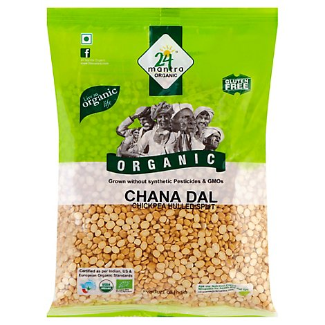 Organic Chana Dal Chickpea Hulled Split - 2 Lb