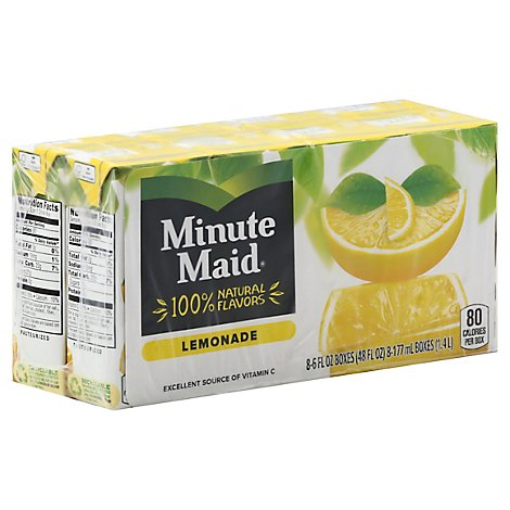 Minute Maid Lemonade Cartons 6 Fl Oz 8 Pack - 48 Fl. Oz.