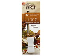 Enviroscent Amber Woods Bed & Bath Sticks - 4 Count