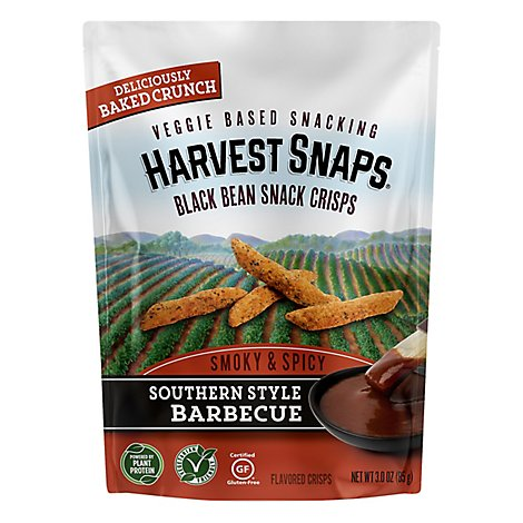 Harvest Snaps Black Bean South Style Bbq - 3 Oz
