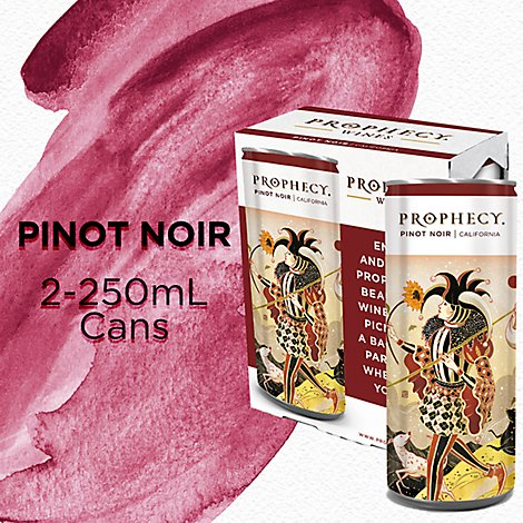 Prophecy Pinot Noir Red Wine Cans - 2-250 Ml