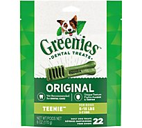 GREENIES Dental Dog Treats Daily Natural Teenie Original 22 Count - 6 Oz