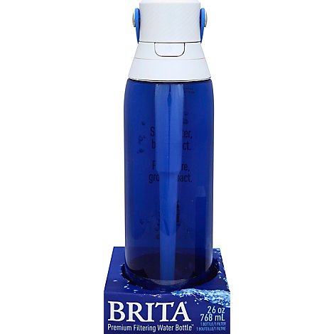 Brita Premium Hard Sided Water Bottle Sapphire 26 Oz - Each