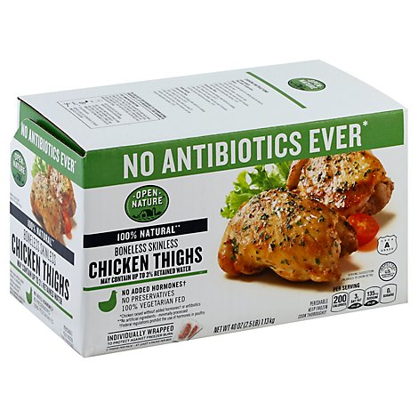 Open Nature Chicken Thighs Boneless Skinless Iqf - 40 Oz