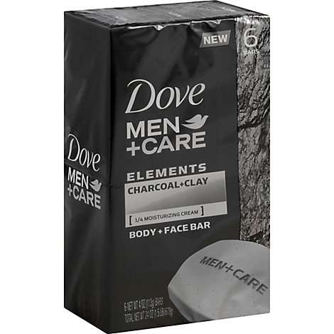 Dove Men+Care Body + Face Bar Elements Charcoal + Clay - 6-4 Oz
