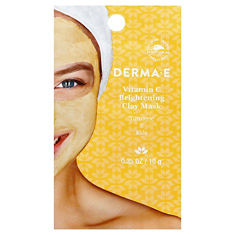 Derma E Mask Clay Vit C Sngl Use - 0.35 Oz