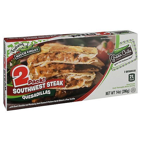 Green Chile Quesadilla Southwest Steak 2 Count - 14 Oz