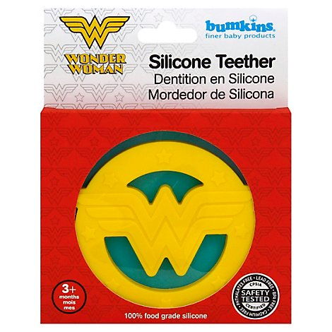 Bumkins Silicone Teether Dc Comics Wonder Woman - Each