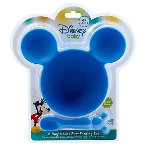Bumkins Silicone Baby Feeding Set Disney Mickey Mouse - Each