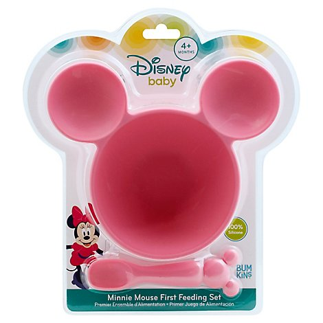 Bumkins Silicone Baby Feeding Set Disney Minnie Mouse - Each