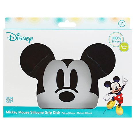 Bumkins Silicone Toddler Grip Dish Disney Mickey Mouse - Each
