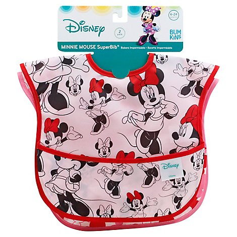 Bumkins 2 Pack Superbib Baby Bib Disney Minnie Mouse - 2 Count