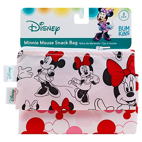 Bumkins 2 Pack Reusable Snack Bags Disney Minnie Mouse - 2 Count