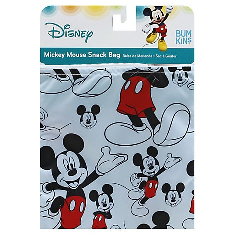 Bumkins Reusable Sandwich Bag Snack Bags Disney Mickey Mouse - 3 Count