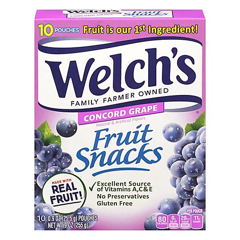 Welchs Fruit Snacks Grape Pouch - 10-.9 Oz
