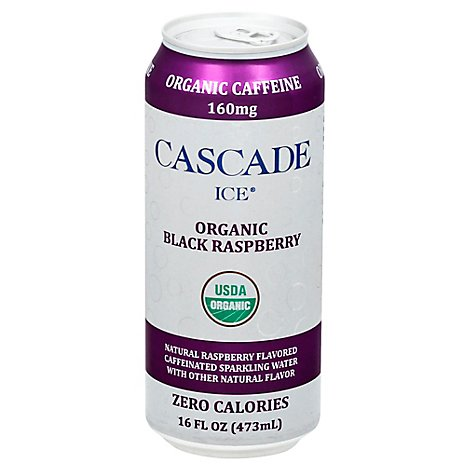 Cascade Ice Organic Caff Black Raspberry - 16 Fl. Oz.