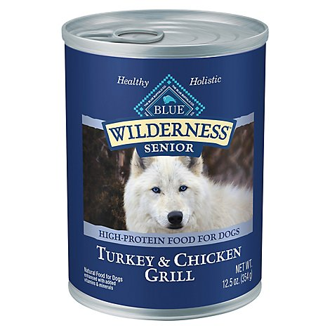Blue Wilderness Senior Dog Trky & Chkn - 12.5 Oz